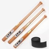 Beli Solid Kayu Tanpa Sendi Baseball Bat 54 Cm Softball Bat Dengan Non Slip Karet Band Intl Oem