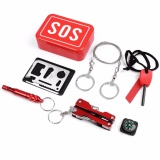 Iklan Sos Edc Pack Outdoor Survival Kit Camping Hiking Emergency Sos Tools Earthquake Emergency Onboard Outdoor Survival