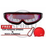 Jual Beli Speedo Kacamata Renang Lx 4100 Merah Baru Jawa Barat
