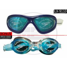 Spesifikasi Speedo Kacamata Renang Lx 9110 Biru Miror Online