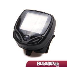 Speedometer Sepeda - Waterproof Wireless Multifunctional Bicycle Computer Odometer 14 Function Blac