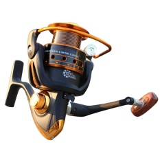 Spinning Fishing Reel 12 + 1 Bearing Balls Fishing Reel dengan Kiri Kanan Convertible Metal Rocking Bar Spesifikasi: AX1000-Intl