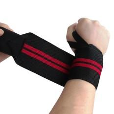 Sport Gym Tangan Dukungan Penjepit Pergelangan Tangan Angkat Berat Tali Selendang Pelindung Gelang-Intl