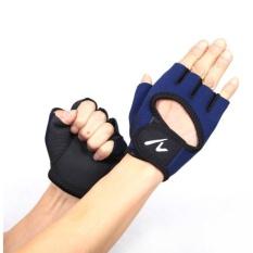 Jual Sport Half Finger Fitness Glove Blue Sport Branded