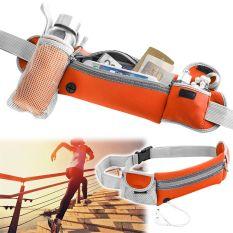 Harga Olahraga Biliar Menjalankan Belt Pinggang F*nny Pack Berkemah Kantong Ritsleting Tas Botol With Pemegang Orange Yang Murah