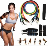 Jual Sports Outdoors Exercise Bands 11Pcs In One Set Elastic Resistance Bands Tube Exercise Band For Yoga Fitness Training Intl Oem Di Indonesia
