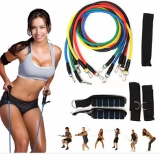 Beli Sports Outdoors Exercise Bands 11Pcs In One Set Elastic Resistance Bands Tube Exercise Band For Yoga Fitness Training Intl Yang Bagus