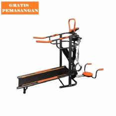 Gratis Ongkir Jabodetabek-Karawang-Serang Sports Treadmill Manual 6 Fungsi Incline Black