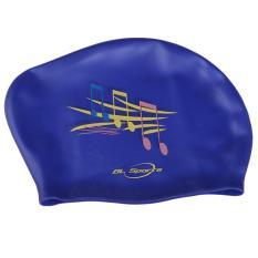 Harga Olahraga Topi Renang Silikon Tahan Air Menyelam Penutup Biru Catatan Musik Asli