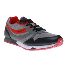 Review Spotec Exclude Sepatu Lari Abu Abu Merah Jawa Barat