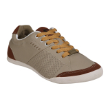 Harga Spotec Magic Sepatu Sneakers Pria Beige Brown Asli