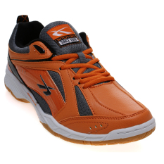 Spotec Pointer Sepatu Badminton - Orange/Grey
