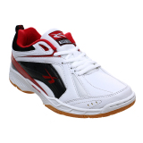 Jual Spotec Pointer Sepatu Badminton White Red Branded Original