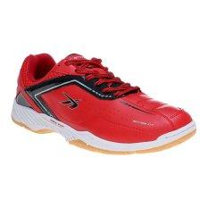 Spotec Vega Sepatu Badminton - Merah-Hitam