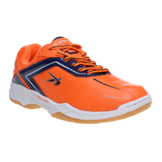 Beli Spotec Vega Sepatu Badminton Oranye Biru Tua Secara Angsuran