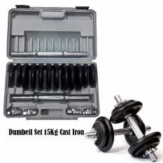 Spesifikasi Stamina Dumbell Set Cast Iron With Box 15 Kg Barbel Set Stamina Cast Iron 15Kg Murah
