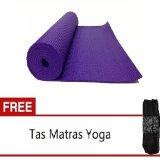 Dapatkan Segera Starjakarta Matras Yoga Atau Yoga Mat Ungu 6Mm Gratis Tas