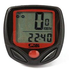 Sunding Sd 548B Tahan Air Bersepeda Odometer Speedometer Merah And Hitam Terbaru