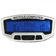 Promo Sunding Sd 558C Watertproof Odometer Speedometer Sepeda Wireless With Lcd Backlight Putih Sunding