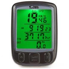 Jual Sunding Sd 563A Bersepeda Tahan Air Odometer Speedometer Dengan Hijau Lampu Latar Hitam Intl