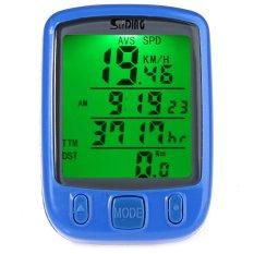 Spesifikasi Sunding Sd 563A Tahan Air Bersepeda Odometer Speedometer With Hijau Lampu Latar Hijau Online