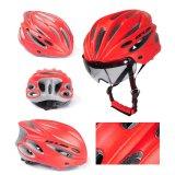 Penawaran Istimewa Sunyoo Praktis Gub Plus Bersepeda Sepeda Dewasa Safety Road Bike Helmet Head Protector Dengan Visor Merah Intl Terbaru