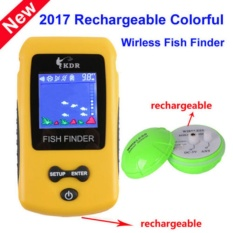 Super Wireless Fish Finder Fishing Kedalaman Sonar Sensor Alarm Radar    Rechargeable