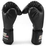 Review Toko Suten 1 Pasang Pu Tinju Kick Boxing Fight To Memaksakan Sarung Tangan For Pelatihan Tempur Hitam