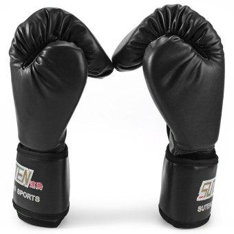 SUTEN 1 Pasang PU Tinju Kick Boxing Fight To Memaksakan Sarung Tangan For Pelatihan Tempur (