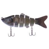 Review Toko Swimbait 6 Bagian Jointed Fishing Lure Crankbait Bass Umpan Ikan Yang Hidup Seperti