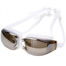 Swimming Goggles with Anti Fog and UV Proof , For Kids and Women--Brown  - intl