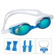 Swimming Goggles,ANGOGO Swim Goggles with Mirror/Smoke Lens Anti-fog UV Protection Watertight Adjustable Strap Comfort fit for U - intl