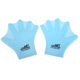 Diskon Swimming Webbed Gloves *d*lt Frog Finger Fin Paddle Hand Wear Silicon Blue