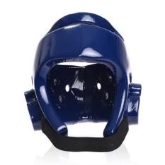 Helm Taekwondo Cetakan Kepala Pelindung Karet Penuh Wajah Menjaga Helm Ukuran S-Internasional