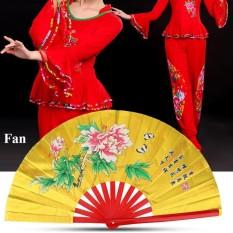Tai Chi Seni Bela Diri Kung Fu Bambu Kipas Sutra Tangan Kanan Wushu Dance Latihan Pelatihan (Emas)-Intl