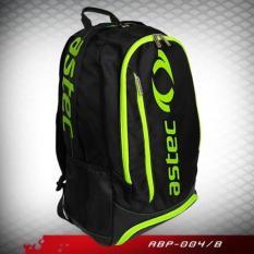 Tas Badminton / Astec Backpack Abp 004/B (Black/Green) - D9E6B3