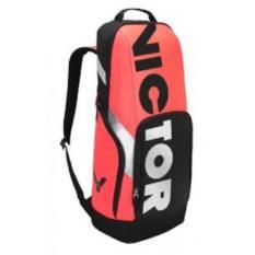 Tas Badminton / Bulutangkis Ransel Victor BR 8018 Orange Hitam - Original