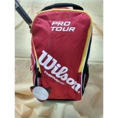 Tas Raket Gendong Tenis Badminton Bulu Tangkis Dgn Alumunium Foil Bagpack With Thermoguard Wilson Z8324
