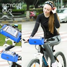 Spesifikasi Tas Sepeda Bagian Depan Multifungsi Bike Riding Touch Bag Bs 01 Blue Dan Harganya