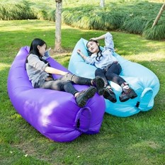 TDH Inflatable Lounger Couch, Outdoor Blow Up Lounge Chair with Carrying Bag for Travelling, Camping (Purple) - intl