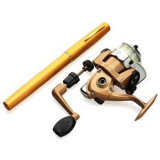 Teleskopik Aluminium Mini Pocket Pena Fishing Rod Gulungan Tali Nilon Yang Ditetapkan