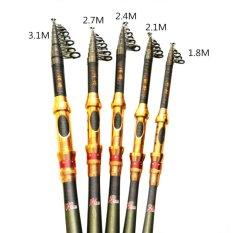 Beli Teleskopik Pancing Air Asin Travel Spinning Fishing Rods Poles Perikanan Yang Dapat Ditarik 5 9Ft 1 8 M Intl Tiongkok