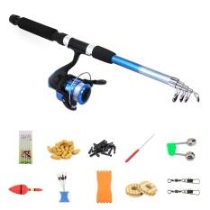 Telescopic Spinning Fishing Rod Kit Air Laut Air Asin Laut Pancing dengan Reel Combo dan Lines Fishing Alat Aksesoris-Intl