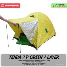 Model Tenda 2 Orang Double 2 Layer Waterproof Breatheble Anti Air Camping Nyaman Terbaru