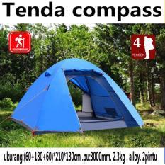 Jual Tenda Camping 4 Orang Frame Alloy Kuat Kokoh Tahan Badai Compass Murah Di Indonesia