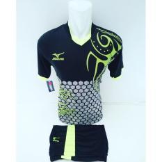 [ TERLARIS MZ 03 HITAM IJO ] Baju Kaos Olahraga Jersey Bola Setelan Futsal / Volly Mizuno