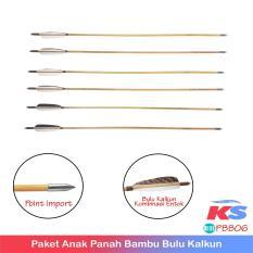 TERMURAH SELAZADA!! Paket Bambu Bulu Kalkun Point Import 6pcs - GARANSI - BEST SELLER!!