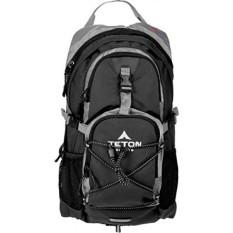 TETON Sports Oasis 1100 2 Liter Hidrasi Ransel Sempurna untuk Ski, Berlari, Bersepeda, Bersepeda, Hiking, Climbing, dan Berburu; 2 L Air Kandung Kemih Termasuk; Cover Hujan Gratis Termasuk; Hitam-Intl