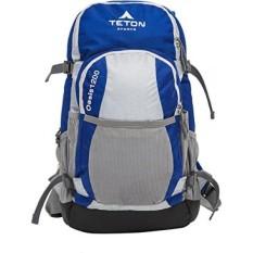 TETON Sports Oasis 1200 ITER Hidrasi Ransel Sempurna untuk Ski, Berlari, Bersepeda, Bersepeda, Hiking, Climbing, dan Berburu; Air Kandung Kemih Termasuk; Cover Hujan Gratis Termasuk; Biru/Abu-abu-Intl