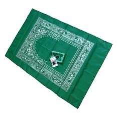 Tigaduasatu - Sajadah Kompas untuk Travelling Pocket Prayer Mat - Hijau
